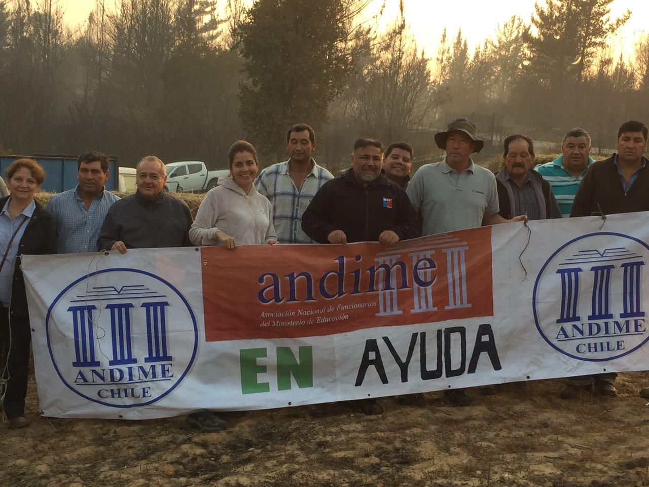 ANDIME Nacional se moviliza para ir en ayuda de afectados por catástrofe en el sur del país