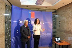 Pdte. Nacional y Subsecretaria en entrevista tras su exposición final en el Servicio Civil ayer miércoles