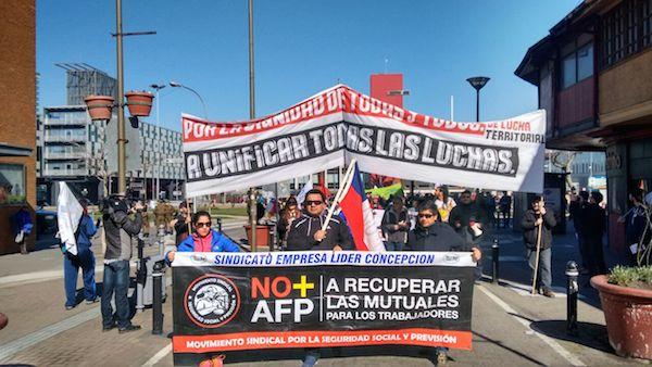 ANDIME se suma a marcha por NO + AFP a lo largo de todo el país