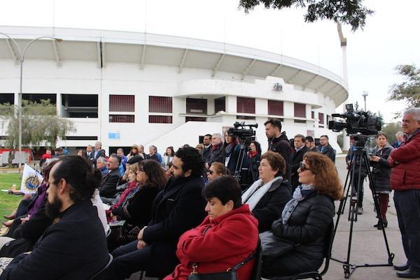 Dirigentes Nacionales de ANDIME asisten a acto de homenaje a funcionarios públicos detenidos en el Estadio Nacional