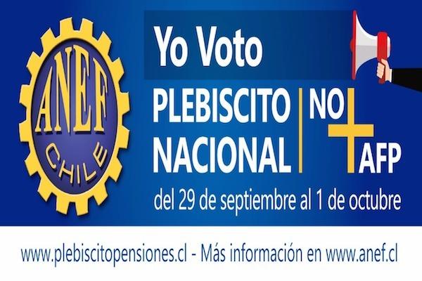 ANDIME Nacional llama a todos y todas a participar del plebiscito nacional por NO+AFP