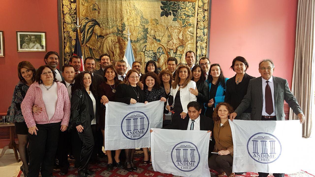 ANDIME participa de seminario internacional de intercambio de experiencias sindicales y educacionales de Chile y Argentina