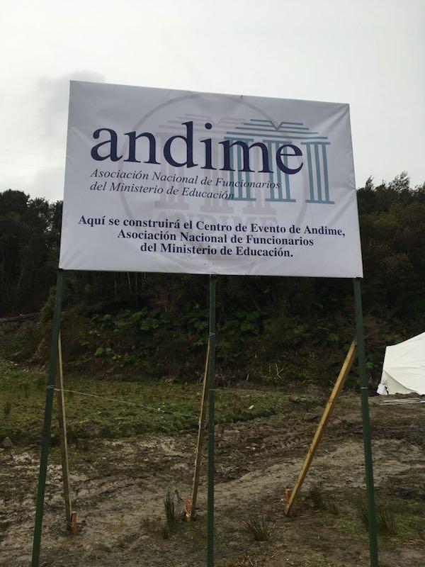 ANDIME concreta histórica instalación de primera piedra de nuevo Centro Gremial en Quillaipe