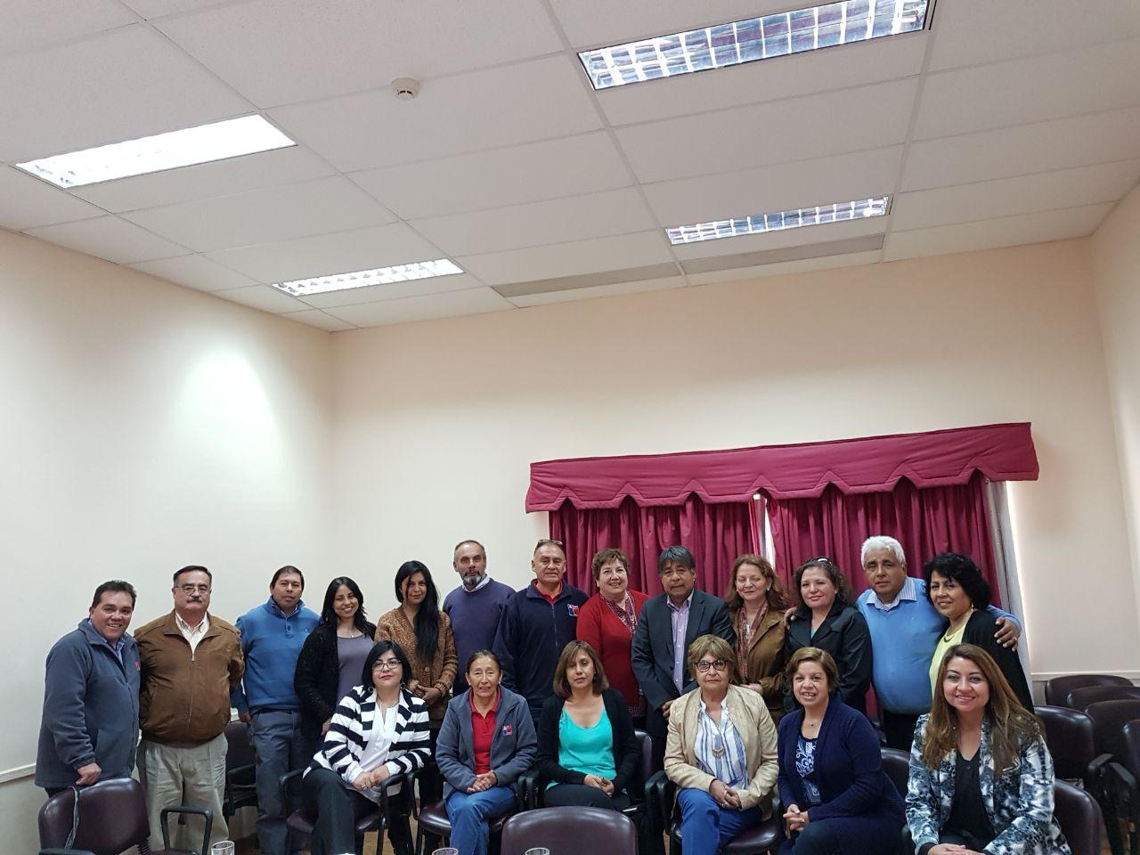 Dirigentes nacionales de ANDIME se reúnen con asociados/as de Deprov Loa y Deprov y Secreduc Antofagasta