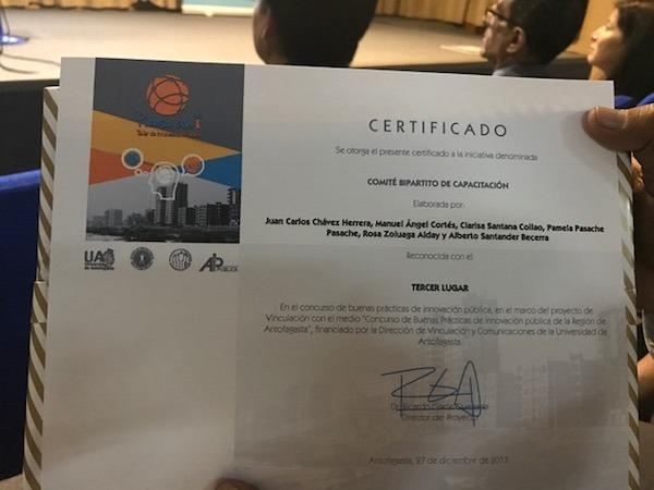 ANDIME es reconocido en entrega de premios de concurso de innovación pública