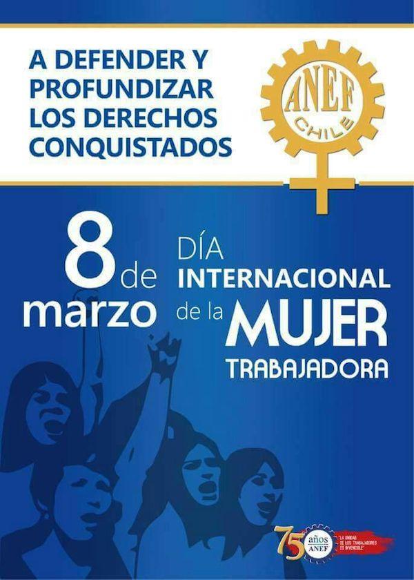 ANEF envía saludo por Día Internacional de la Mujer Trabajadora