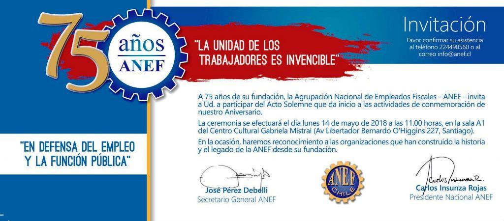 ANEF invita a la conmemoración de su 75º Aniversario
