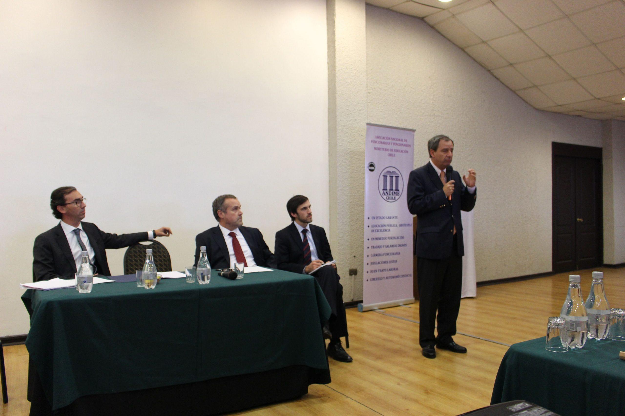 Ministro Gerardo Varela visita Asamblea Nacional de ANDIME y responde consultas de nuestros dirigentes