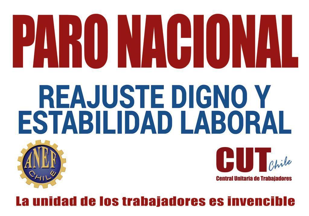 Instructivo Nacional: ANEF convoca al Paro Nacional de la Mesa del Sector Público para el día 26 de noviembre
