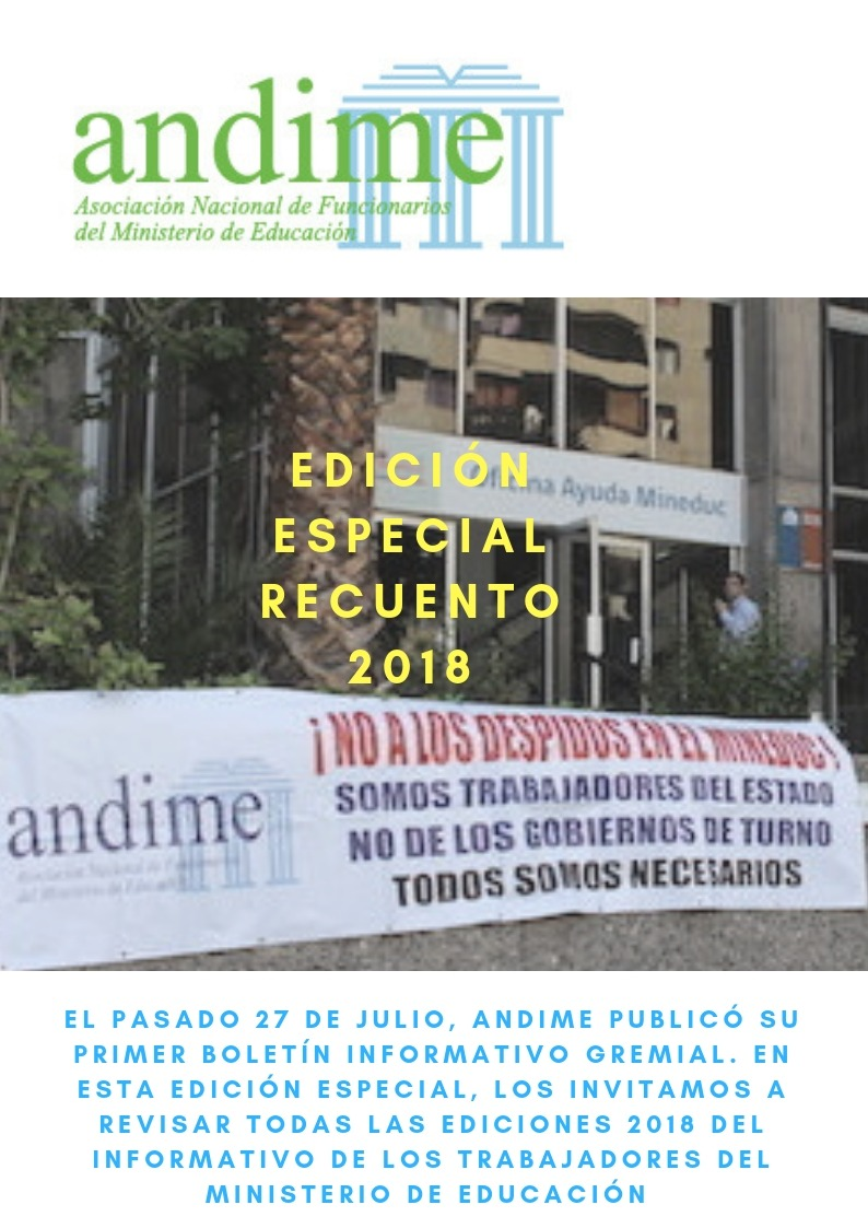 ANDIME Nacional presenta Boletín recuento 2018