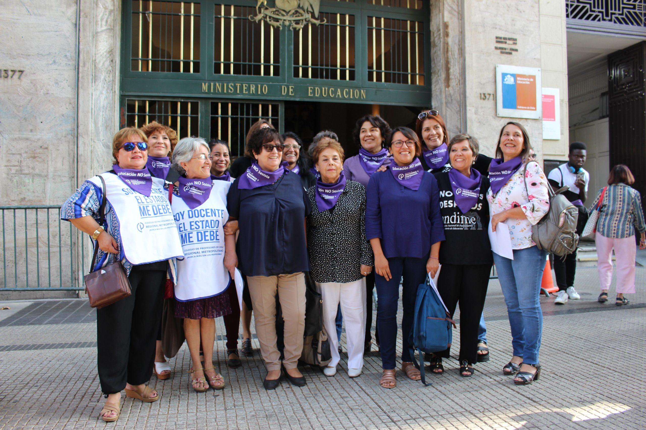 ANDIME y el Colegio de Profesores desarrollan acción conjunta en la antesala de la conmemoración del  8 de Marzo, Día Internacional de la Mujer Trabajadora.