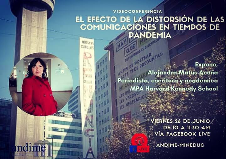 En tercera capacitación de Andime expondrá Alejandra Matus