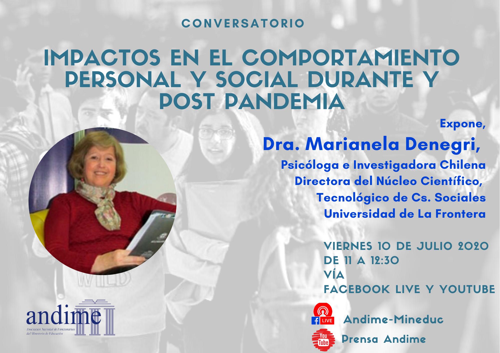Dra. Marianela DeNegri en conversatorio con Andime