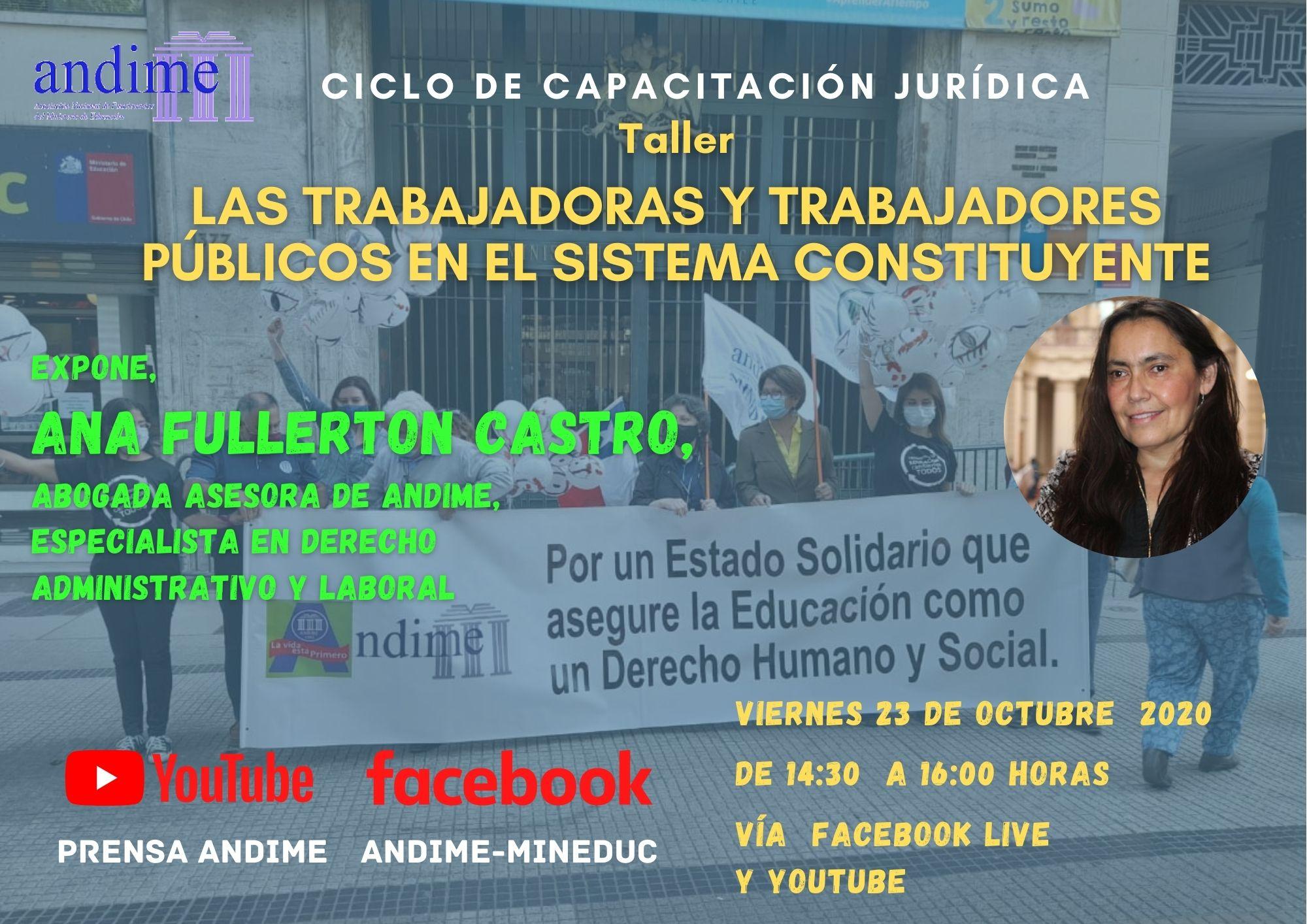 Los trabajadores públicos en el sistema constituyente, nuevo taller de Ana Fullerton