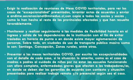 Comunicado 23: Continuación de Estado de Alerta Estado del arte gestión Andime ante Retorno en pandemia
